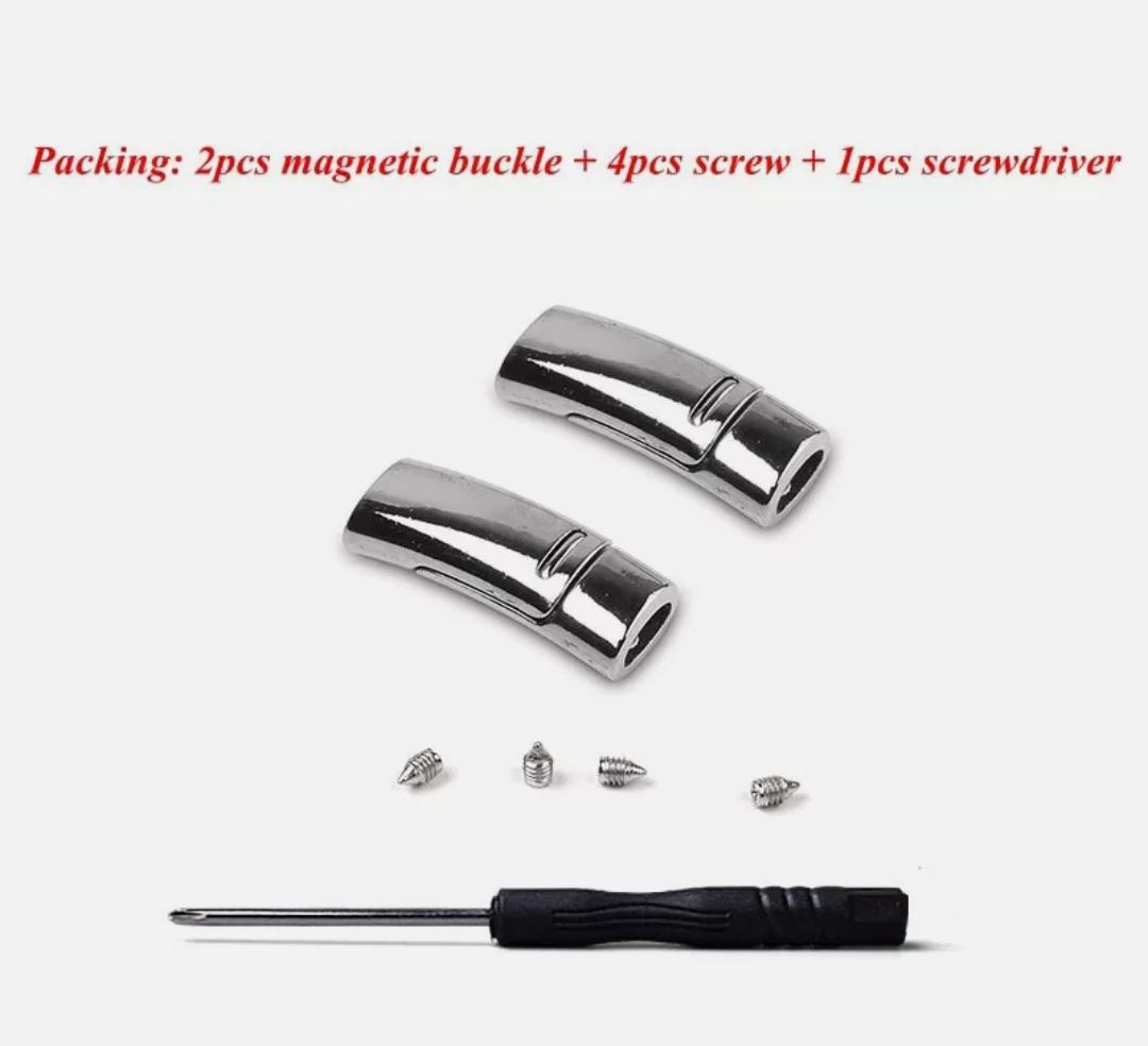 1 Pair Elastic Magnetic 1 Second Locking ShoeLaces Quick Color Lace Tie No I8R1