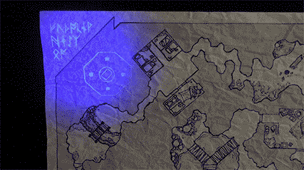 Moon Light Pen map with invisible rooms