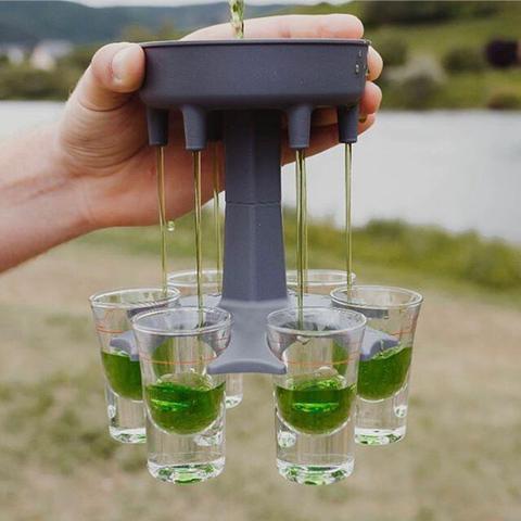 6 Shot Glass Dispenser Holder Drinking Game Shot Glasses Get Party Started Hot