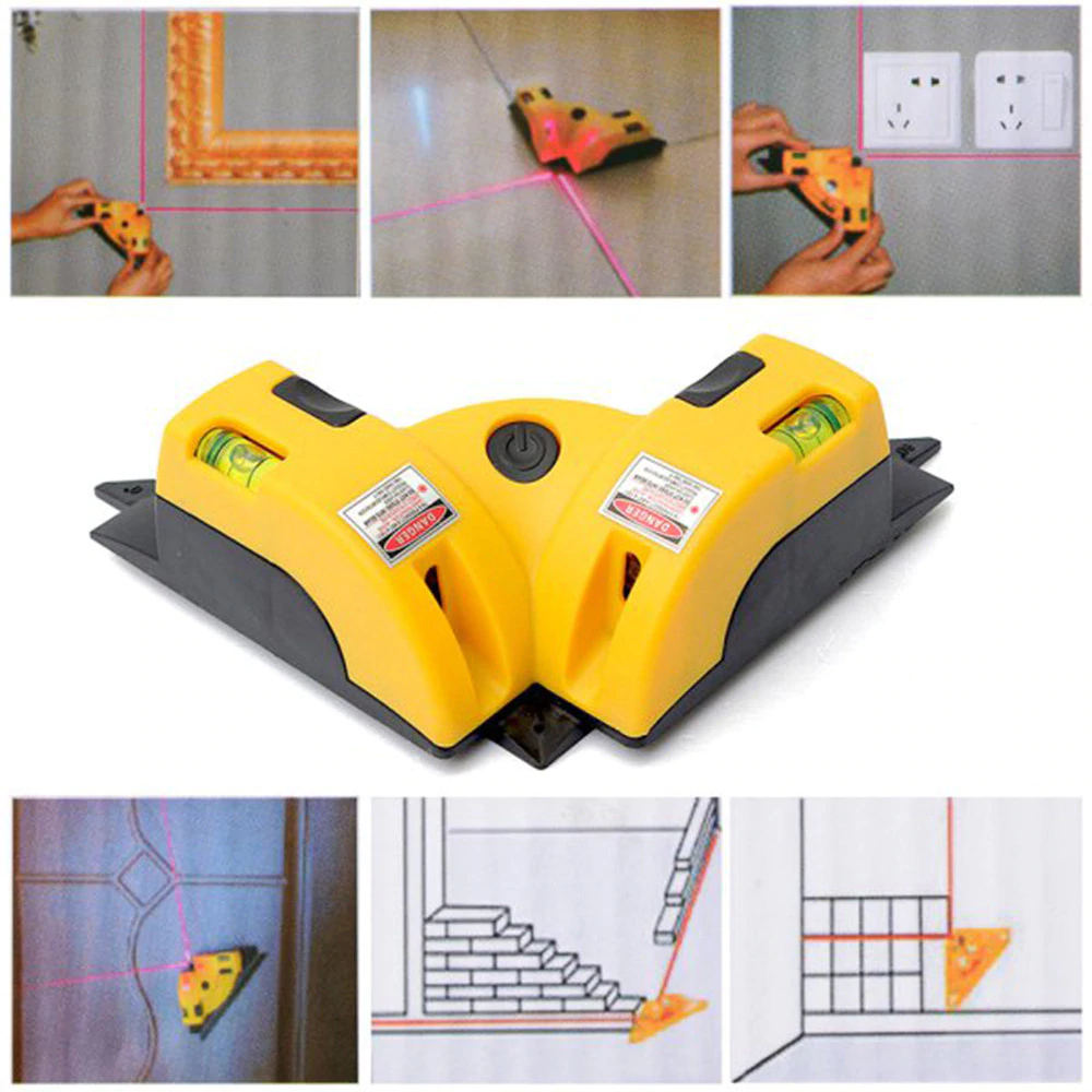 Pro-Vertical-Horizontal-nivel-laser-level-Line-Projection-Right-Angle-90-degree-HT091-Alignment-Layout-Tool