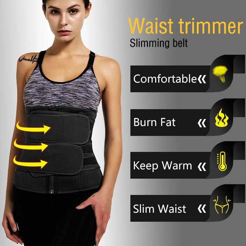 FUT Waist Trimmer Belt Neoprene Exercise Wrap Slim Burn Fat Sweat Weight Loss Shaper